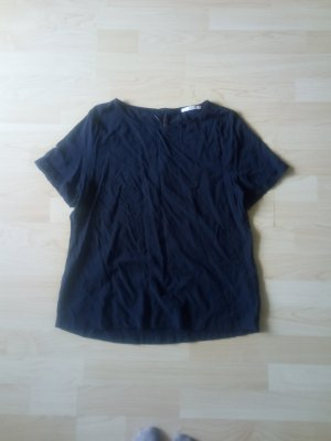 dunkelblaue Bluse aus Viskose