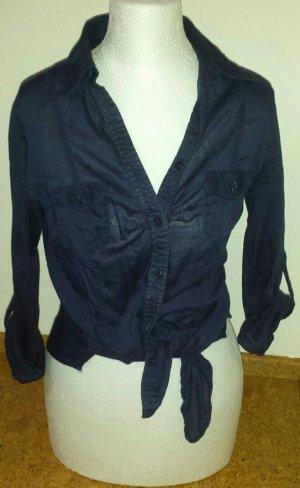 dunkelblaue Bluse, Größe 36
