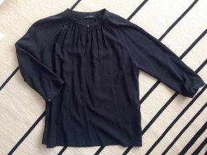 Dunkelblaue Bluse mit 3/4-Arm