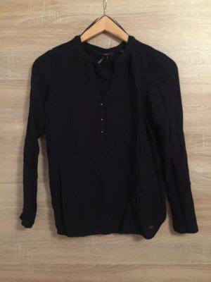 Dunkelblaue Bluse mit Gummizug