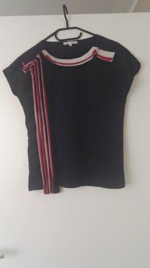 Dunkelblaue Bluse mit Pinken Streifen