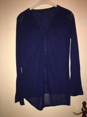 Dunkelblaue Bluse mit Taschen