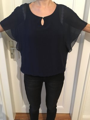 Tom Tailor Transparante blouse donkerblauw