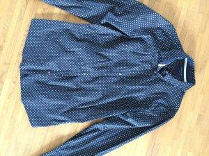 Dunkelblaue Bluse mit weißen Rauten von Tommy Hilfer, Gr. 6