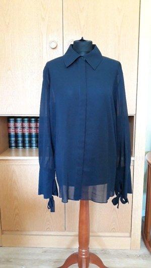 COS Transparent Blouse dark blue cotton