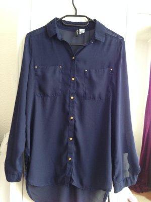 Dunkelblaue Bluse von H&M
