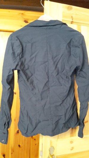 dunkelblaue Bluse von Hennes Collection in Größe 40