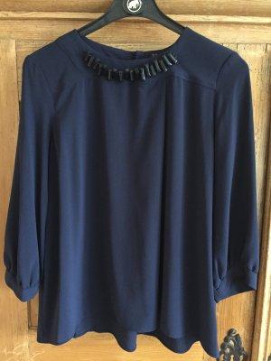Dunkelblaue Bluse von ZARA Gr. 34