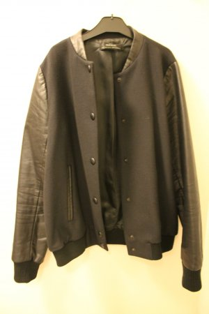 Zara Bomber Jacket black-dark blue