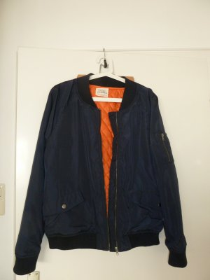 Dunkelblaue Bomberjacke von Ashley
