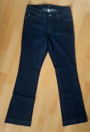 Dunkelblaue Bootcut-Jeans, NEU