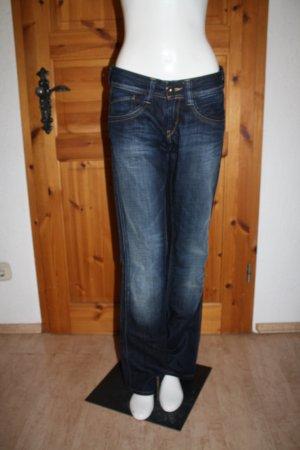 Dunkelblaue Bootcut Jeans von Pepe Jeans