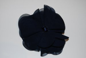 dunkelblaue Brosche / Haarspange