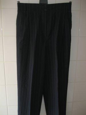 dunkelblaue Bundfaltenhose von Escada