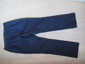 Dunkelblaue Bundfaltenhose von Uniforms for the Dedicated aus Baumwolle