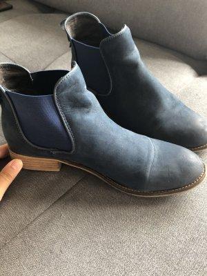 Cox Chelsea Boots blue imitation leather