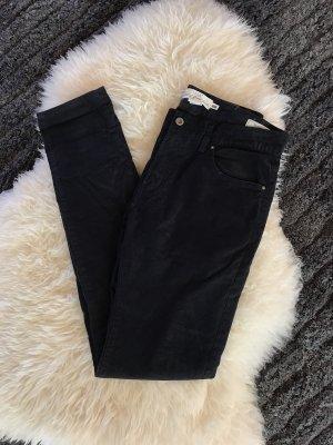 H&M Pantalone di velluto a coste blu-blu scuro