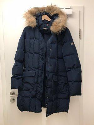 Dunkelblaue Dolomite Winterjacke XL Echtfell