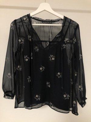 dunkelblaue dreiviertelarm Bluse von Abercrombie & Fitch