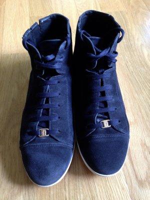 Dunkelblaue Ferragamo Sneaker