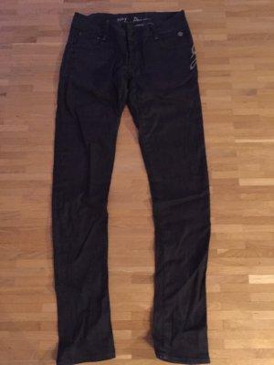 Dunkelblaue G-Star Jeans mit unterschiedlichen Gesäßtaschen