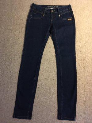"""Dunkelblaue Gang Jeans """"Nena"""" 26/32"""