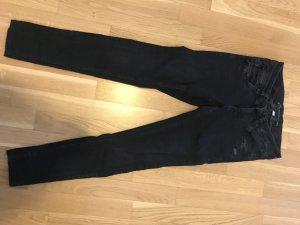 Gang Lage taille broek donkerblauw Katoen