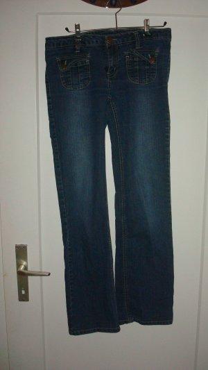 dunkelblaue grade Jeans