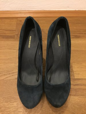 Dunkelblaue H&M Pumps im Wildleder-Look