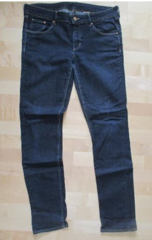 dunkelblaue H&M Röhren Jeans