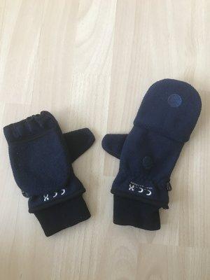 Dunkelblaue Handschuhe Fäustlinge zum Ausklappen