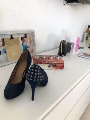 Dunkelblaue High Heels