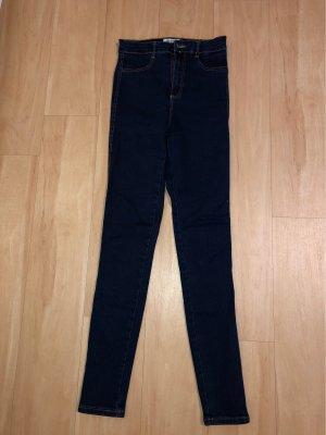 Dunkelblaue High Waist Jeans