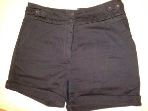 Dunkelblaue High-waist Short