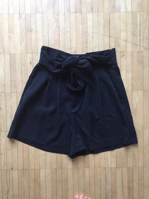 Dunkelblaue High Waist Shorts (neu mit Etikett)