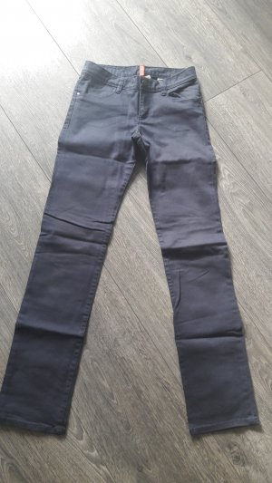 dunkelblaue Highwaist Hose