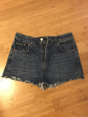 Dunkelblaue Highwaist Shorts