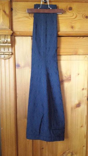 7/8-broek donkerblauw Katoen