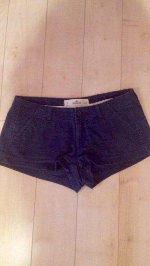 Dunkelblaue Hotpants/Shorts von Hollister