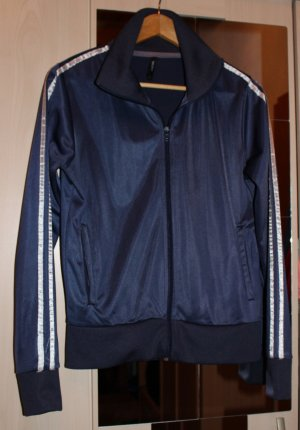 Dunkelblaue Jacke mit weißen Streifen Gr. 38