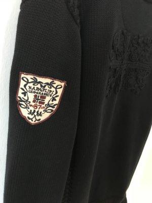 Dunkelblaue Jacke von Napapijri in Größe M mit Stickereien