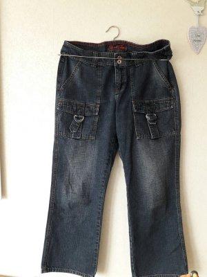 dunkelblaue Jeans, 1 x gewaschen : 7/8 NEU