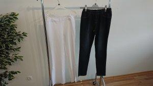 Jeans carotte bleu foncé tissu mixte