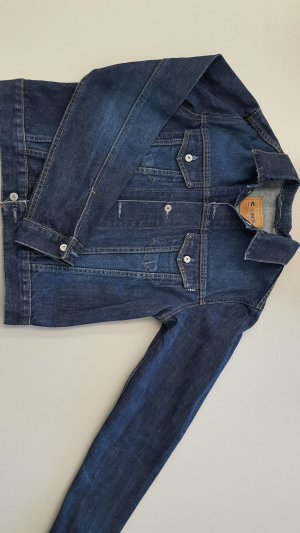 Dunkelblaue Jeans Jacke