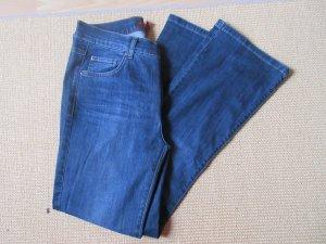 Angels Jeans a zampa d'elefante blu Cotone