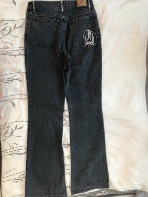 Dunkelblaue Jeans mit Strass