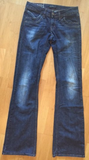 Only Jeans a zampa d'elefante blu scuro-blu