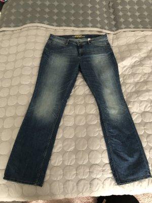 s.Oliver Biker jeans donkerblauw
