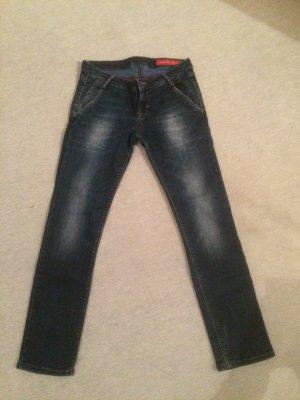 dunkelblaue Jeans / Röhrenjeans von Cross Jeans - Gr. W26
