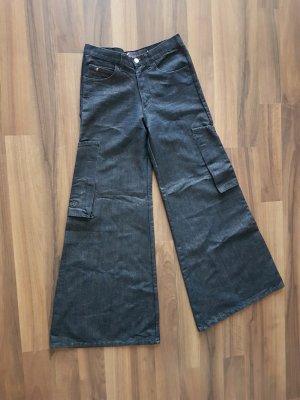 """Dunkelblaue Jeans-Schlaghose von """"Gang"""""""